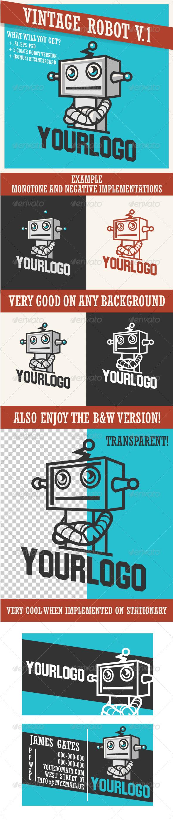 GraphicRiver Vintage Retro Robot V.1 3537262