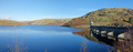 Craig Goch reservoir and dam arches panorama, Elan Valley Wales UK. - PhotoDune Item for Sale