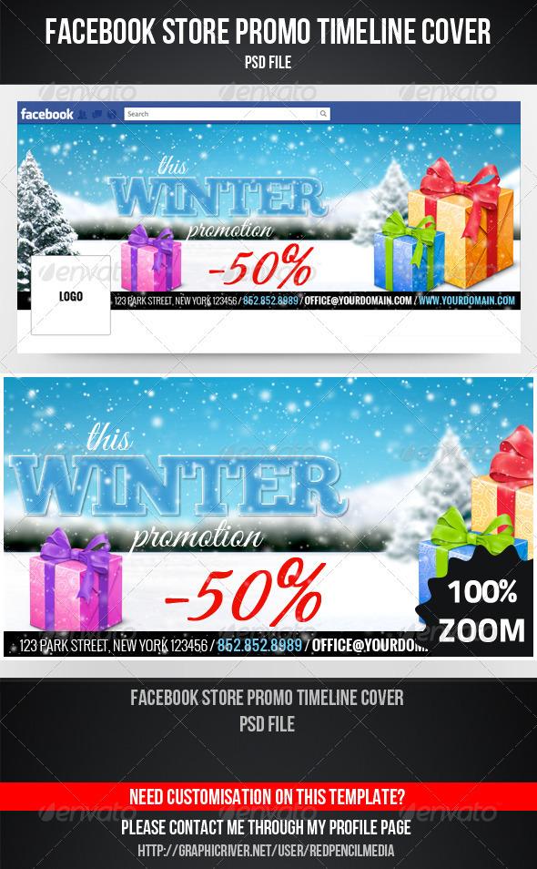 GraphicRiver Facebook Store Promo Timeline Cover 3542761