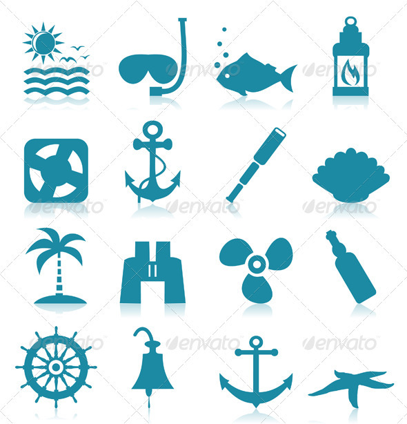 GraphicRiver Sea Icons 3542818