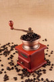 Coffee Beans in Grinder on Jute Cloth - PhotoDune Item for Sale