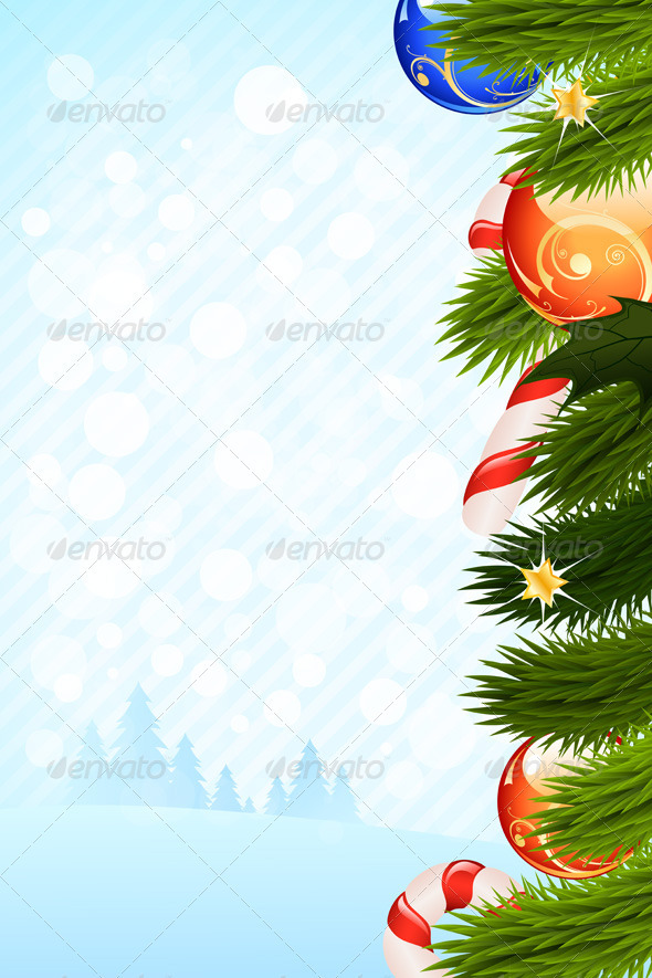 GraphicRiver Christmas Card Template 3543983