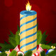 Christmas Card with Decorations and Candle - GraphicRiver Item for Sale