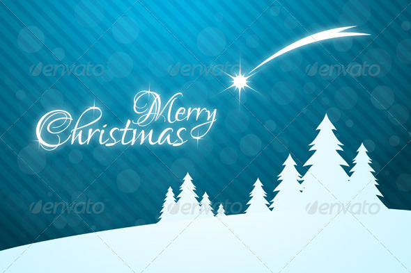 GraphicRiver Merry Christmas Greeting Card with Star 3544006