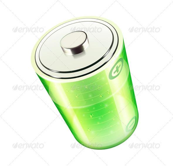 GraphicRiver Green Battery Icon 3544022