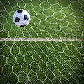 Soccer ball in goal, success concept - PhotoDune Item for Sale