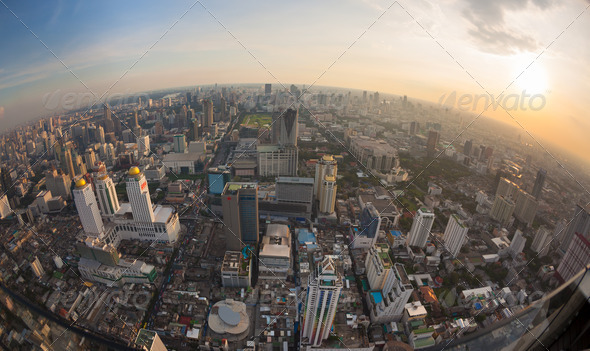 Top view city, Bangkok , Thailand - Stock Photo - Images
