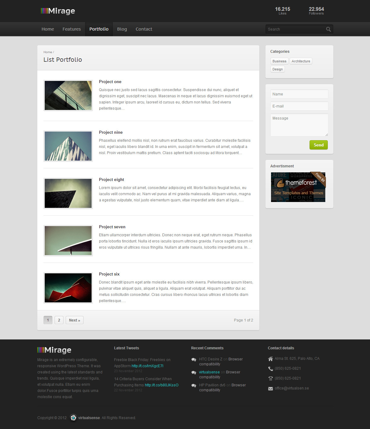 Mirage - Premium Responsive WordPress Theme