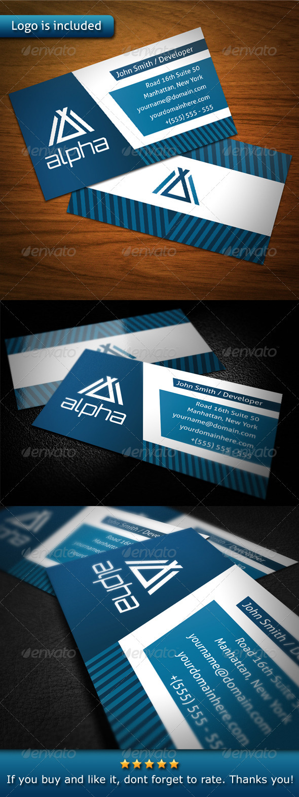 GraphicRiver Tech Business Card 3545893