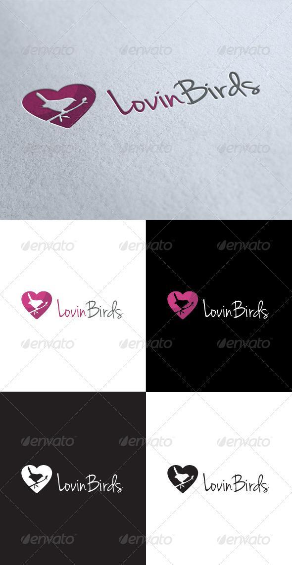 GraphicRiver Love Birds Logo 3545990