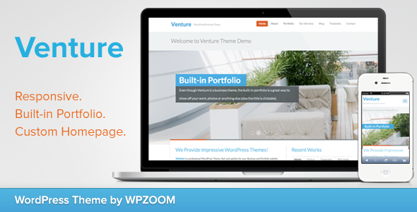 Venture - Business  Portfolio WordPress Theme