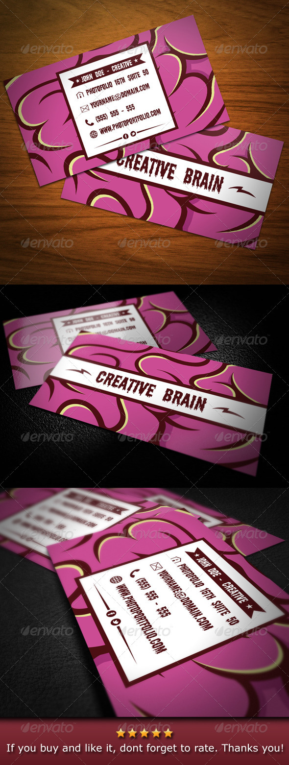 GraphicRiver Creative Brain Business Card 3547810