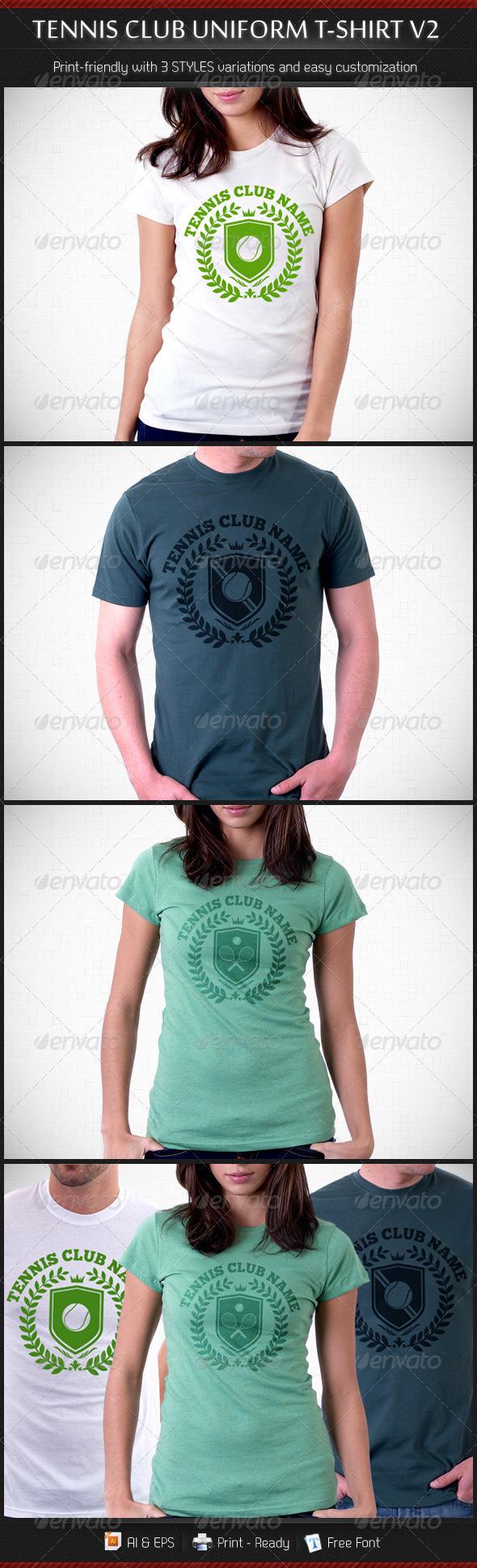 GraphicRiver Tennis Club Uniform T-Shirt Template V2 3547937