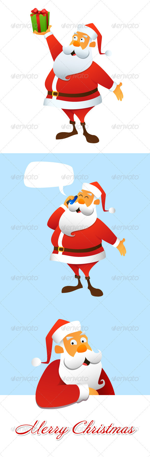 GraphicRiver Set of Santa Clauses 3548295