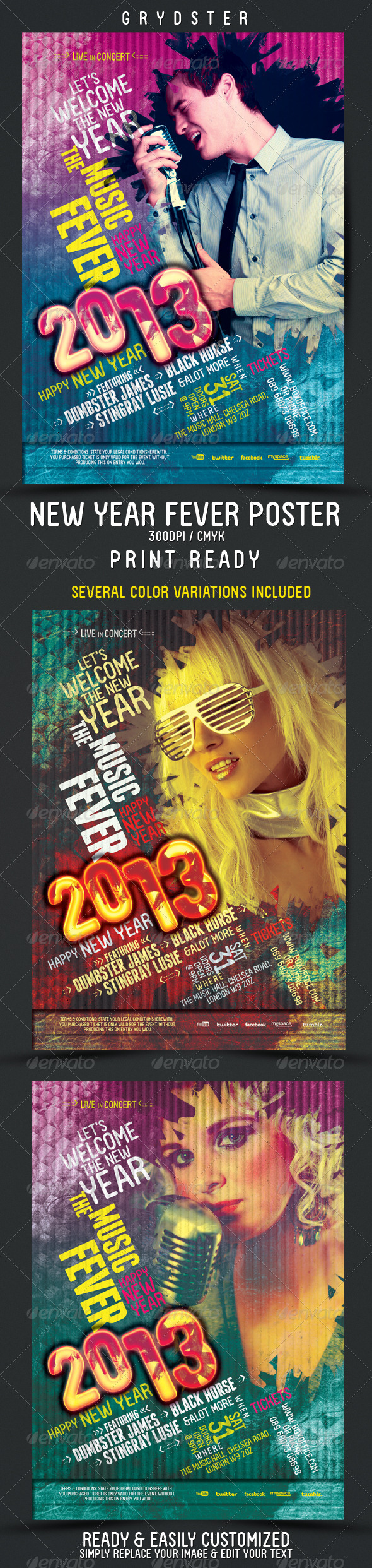 New Year Fever Flyer - Poster - Clubs & Parties Events