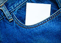 Blank paper in jeans pocket - PhotoDune Item for Sale