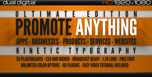 VideoHive Promote Anything Ultimate Typograpy Promo 3548548