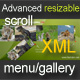 Advanced resizable scroll menu/gallery XML - ActiveDen Item for Sale