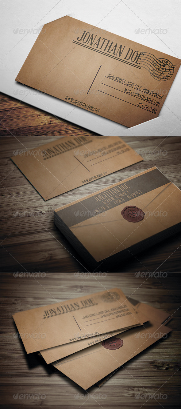 Letter Style Business Card 2 - Creative Business Cards