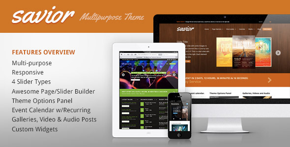 ThemeForest Savior A Powerful Multi-Purpose WordPress Theme 3548289