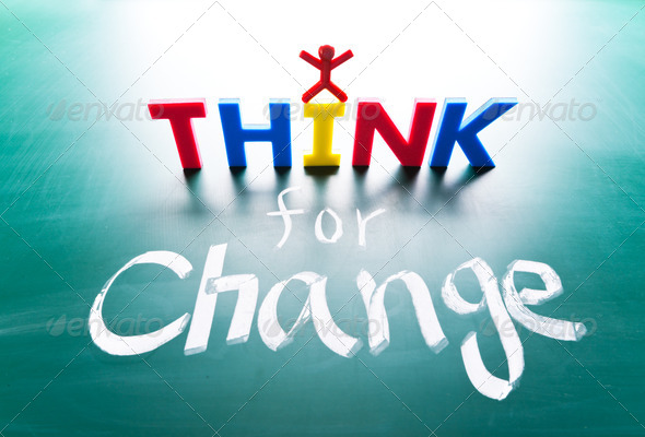 I think for change concept - Stock Photo - Images