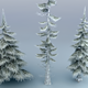 Winter Trees Low Poly - 3DOcean Item for Sale