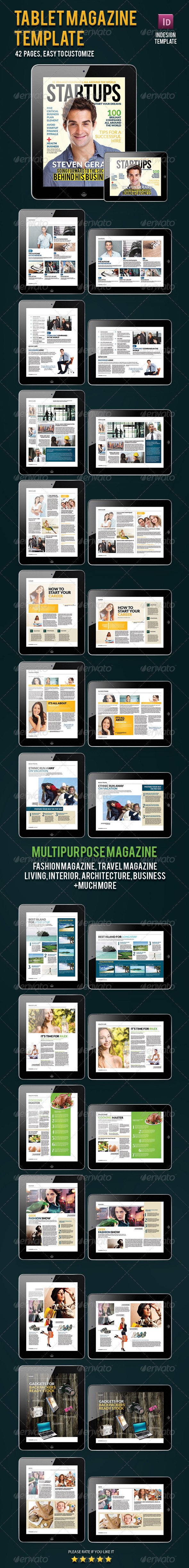 Magazine Template for Tablet - Magazines Print Templates