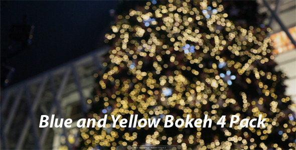 [VideoHive 3552340] Blue and Yellow Bokeh 4 Pack | Stock Footage