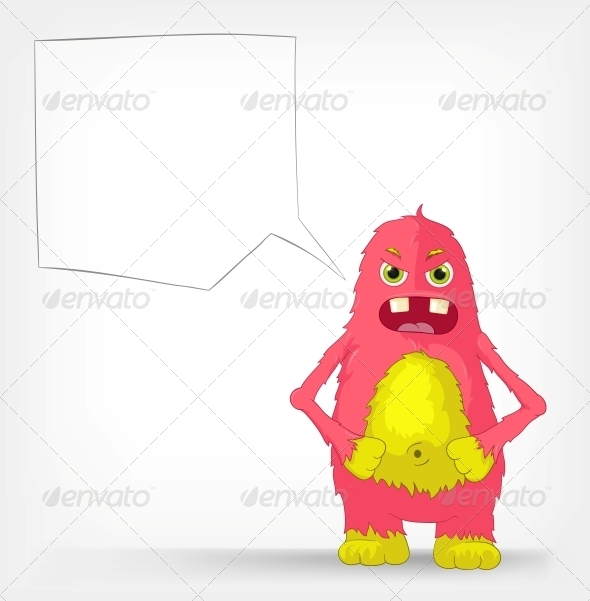 GraphicRiver Funny Monster Angry 3552378