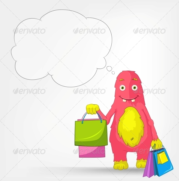 GraphicRiver Funny Monster Shopping 3552445