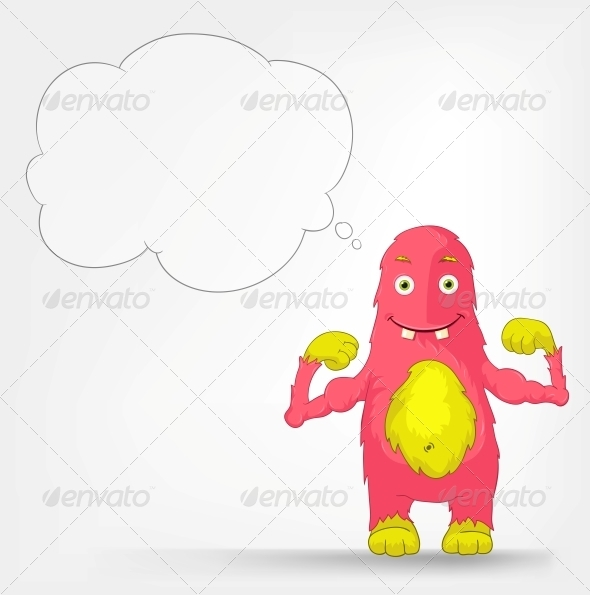 GraphicRiver Funny Monster Muscles 3552455