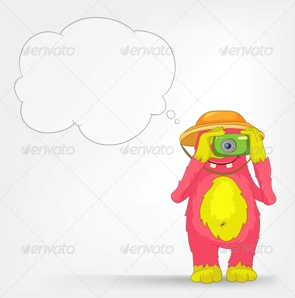 GraphicRiver Funny Monster Tourist Photographer 3552466