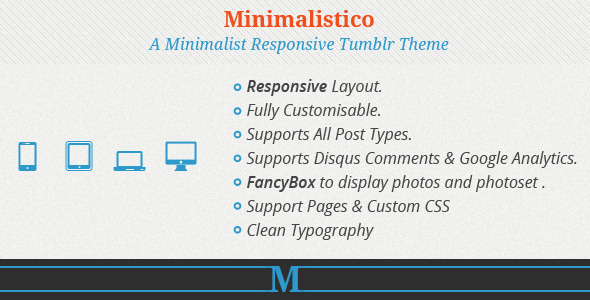 Minimalistico - ResponsiveTumblr Theme