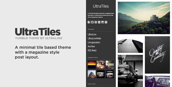 UltraTiles - Customizable Magazine Style Theme - Blog Tumblr