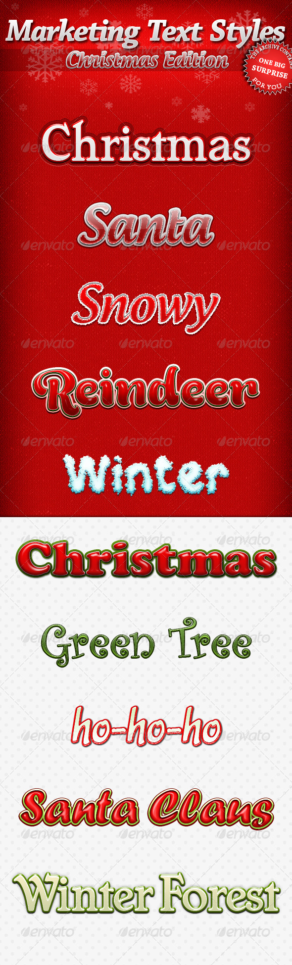 GraphicRiver Marketing Text Styles Christmas Edition 3519947