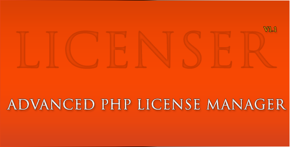 CodeCanyon licenser advanced php license manager 3297281