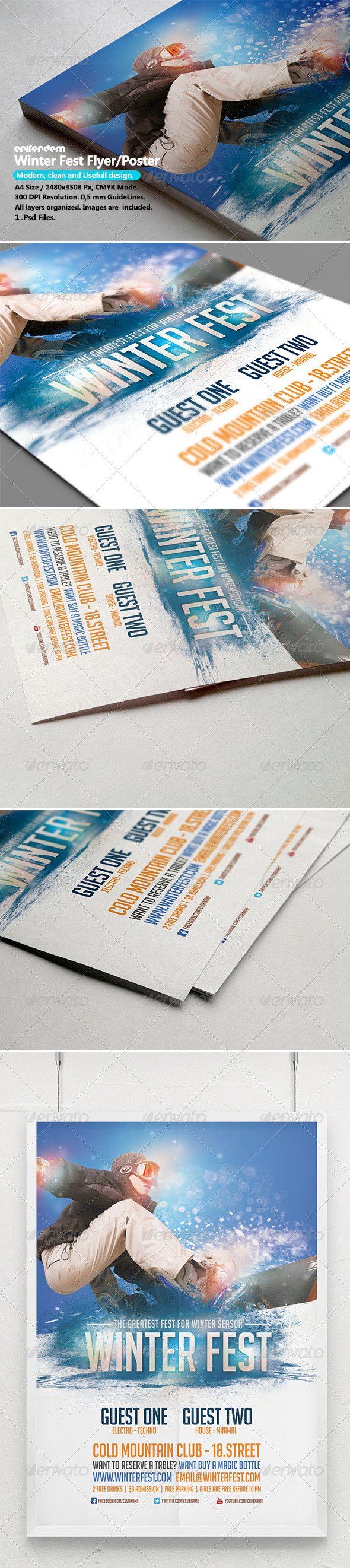 Winter Fest Flyer/Poster Template - Events Flyers
