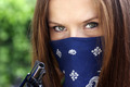 Masked Gun Bandit Pretty Female - PhotoDune Item for Sale