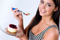 Woman eats Cheescake - PhotoDune Item for Sale