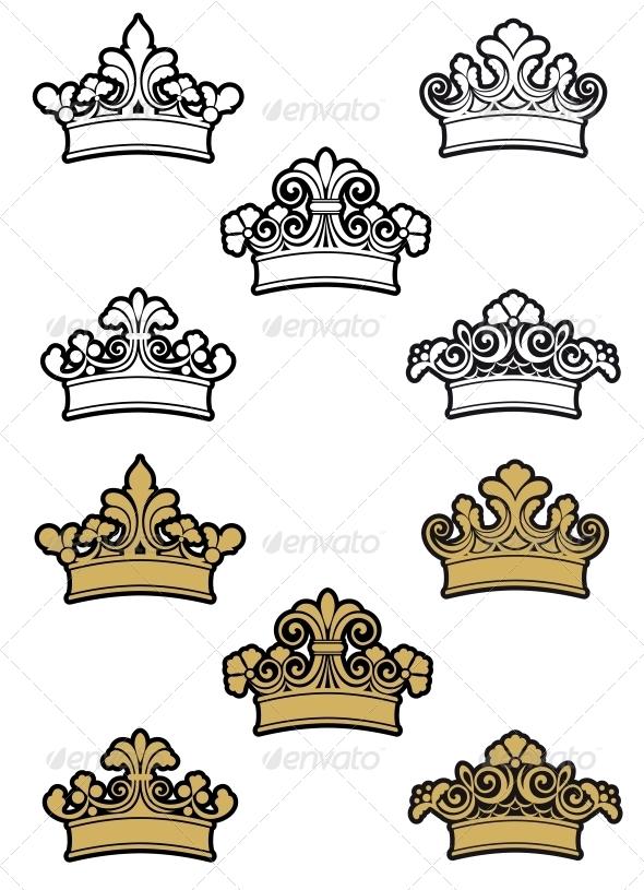 GraphicRiver Heraldic Crowns 3554416