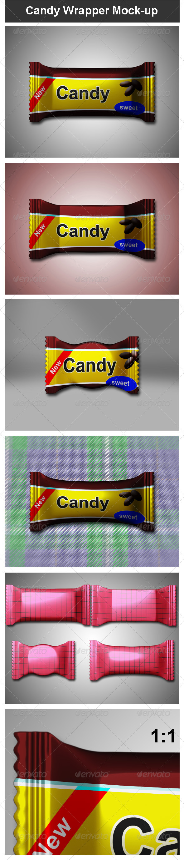 GraphicRiver Candy Wrapper Mock-up 3555036