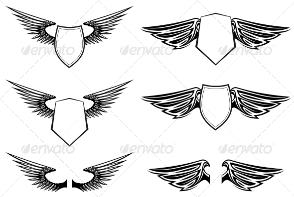 GraphicRiver Heraldic Wings 3555310