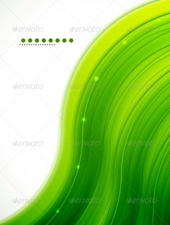 GraphicRiver Light Glittering Green Wave Background 3555341
