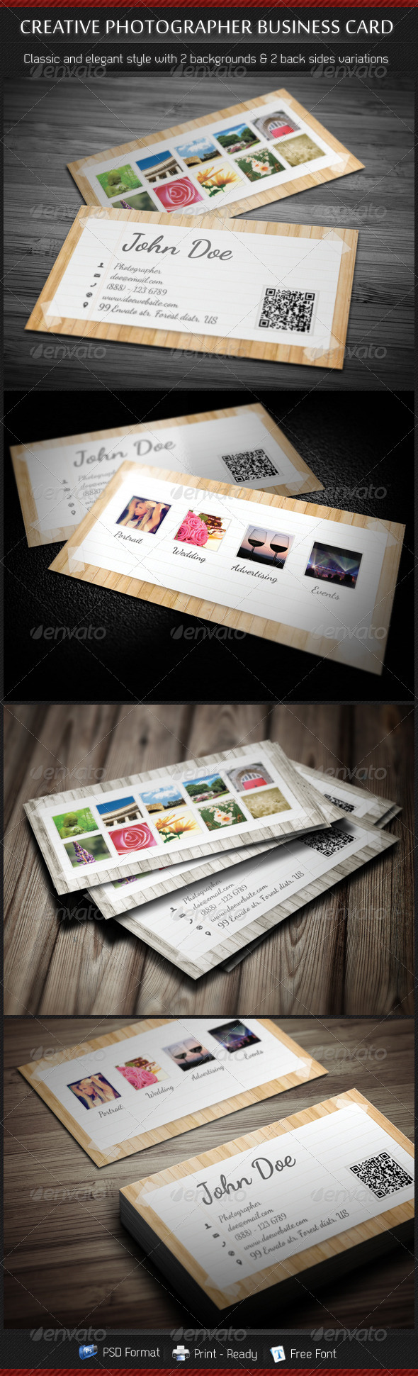 GraphicRiver Creative Photographer Business Card 3558058