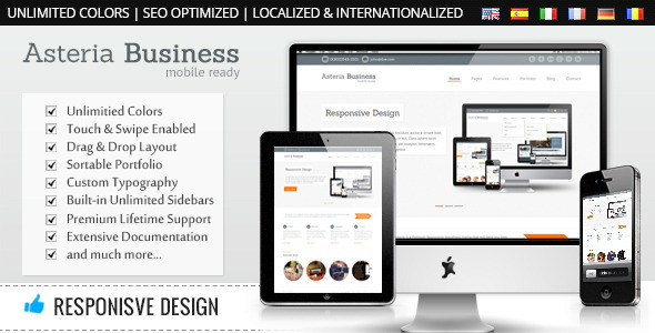 Asteria - Responsive Business WordPress Theme - Business Corporate