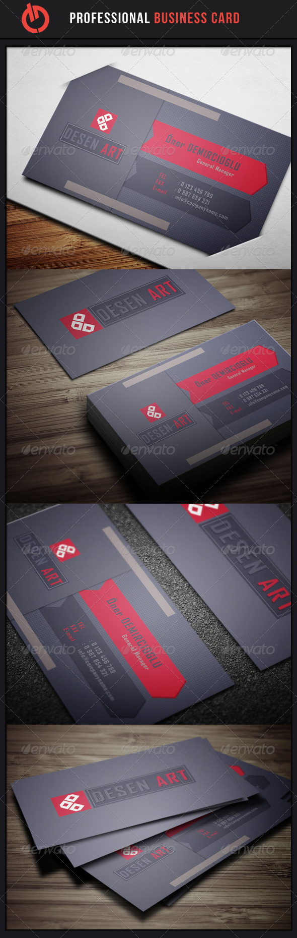 GraphicRiver Professional Business Card 9 3529349