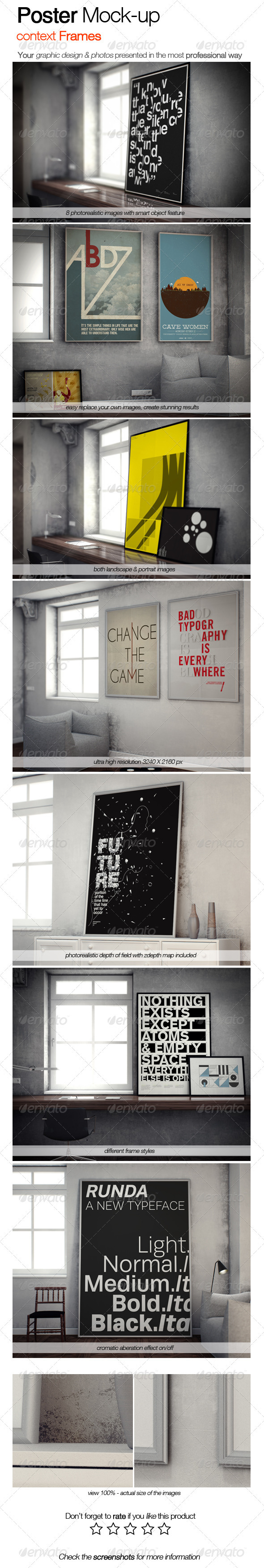 GraphicRiver Poster Mock-up Context Frames 3560037