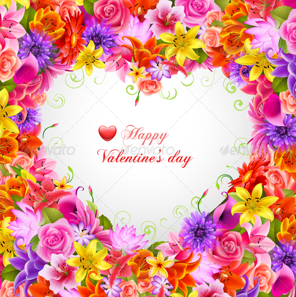 GraphicRiver Valentine s Day Vector Postcard 3560076