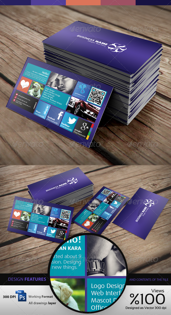 Wins 8 - Personal - Business Card Visit - Creative Business Cards
