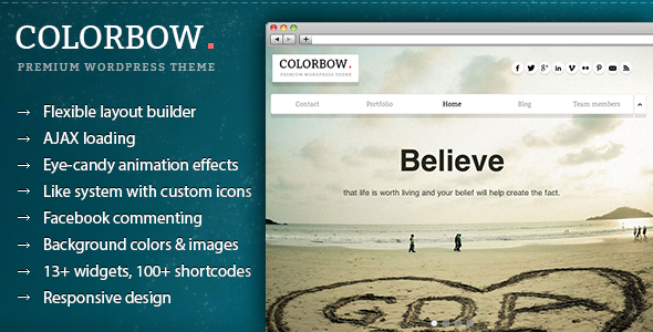Colorbow - A Onepage Creative Portfolio Theme - Creative WordPress